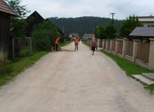 Pokládka asfaltového koberca na ulici Nová