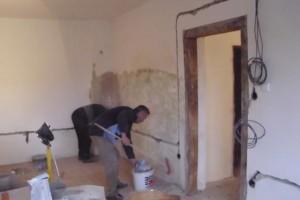 Pokračujúca rekonštrukcia miestností KD nad obecným úradom