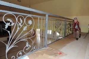 Výroba kovaného zábradlia v kultúrnom dome